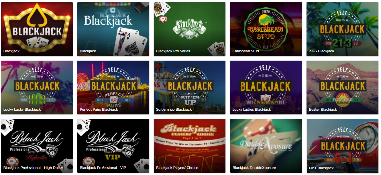 Blackjack spil hos mr green