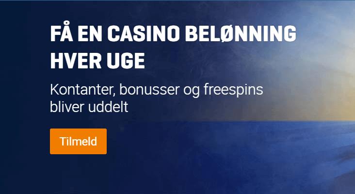 Ugentlig belønning hos NordicBet Casino